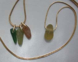 Seaglass pendants