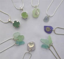 Assorted seaglass pendants